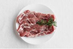 Pork collar steaks