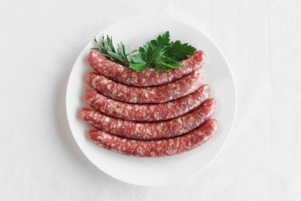 Veal and pork sausages
